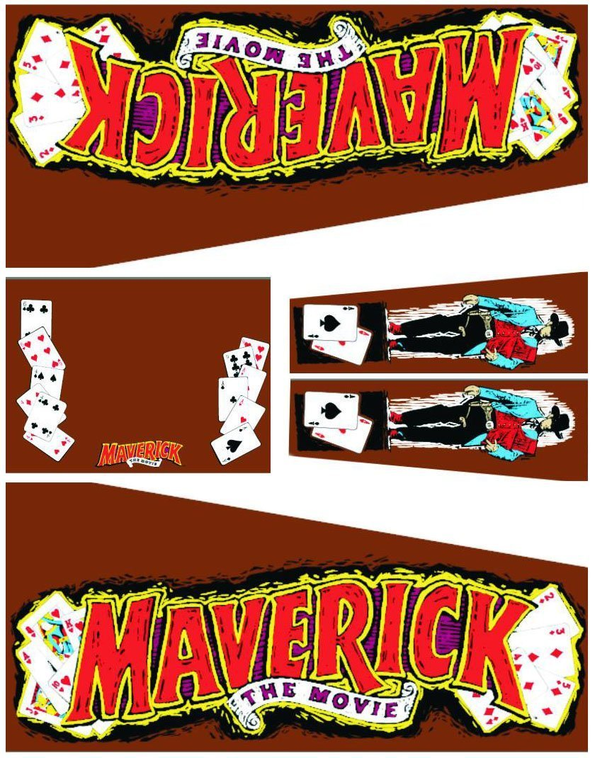 Maverick Pinball Cabinet Decals