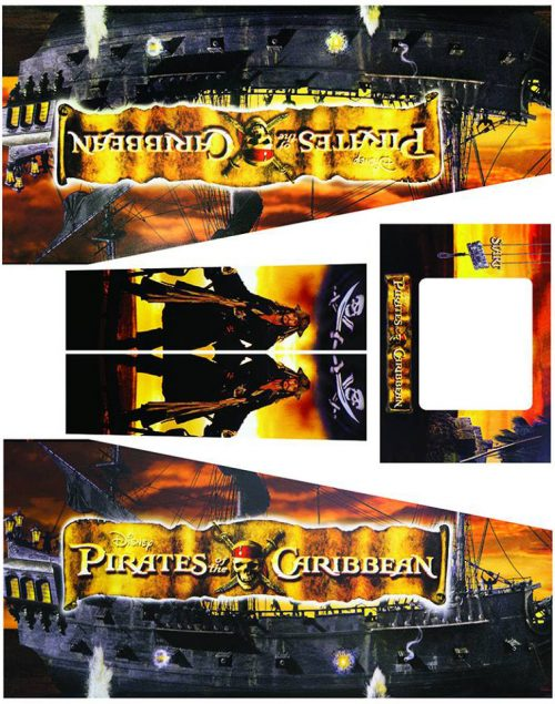 Pirates of The Caribbean Pinball Cabinet Decals Flipper