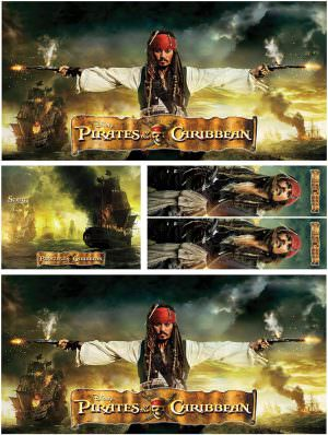 Pirates of The Caribbean Pinball Cabinet Decals