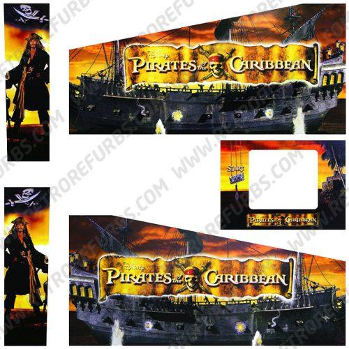 Pirates of the Caribbean Pinball Cabinet Decals Flipper Side Art Original Stern Graphics