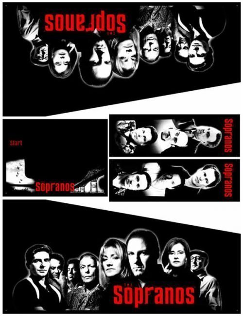 The Sopranos Pinball Cabinet Decals Flipper Side Art