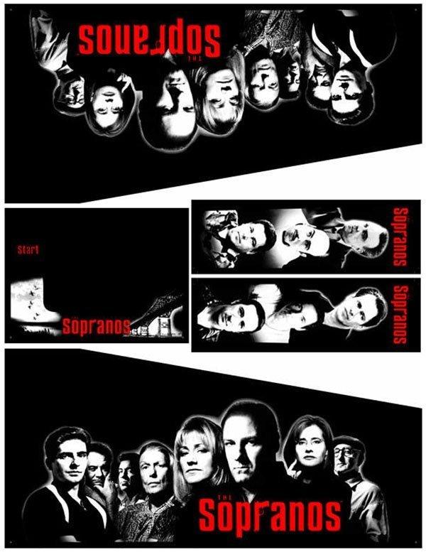 The Sopranos Pinball Cabinet Decals Flipper Side Art