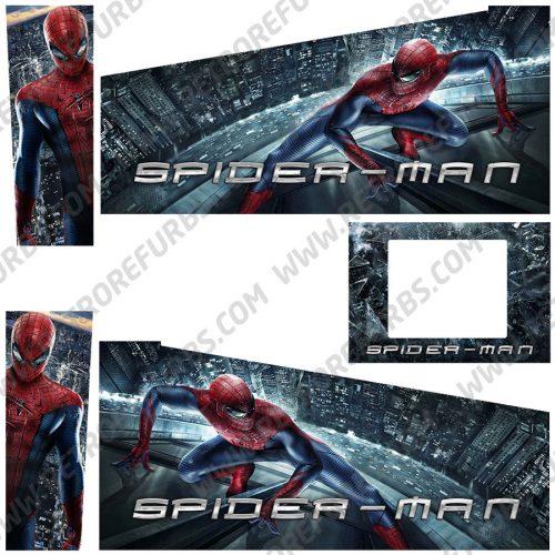 Spider Man City Edition Alternate Pinball Cabinet Decals Flipper Side Art Original Stern