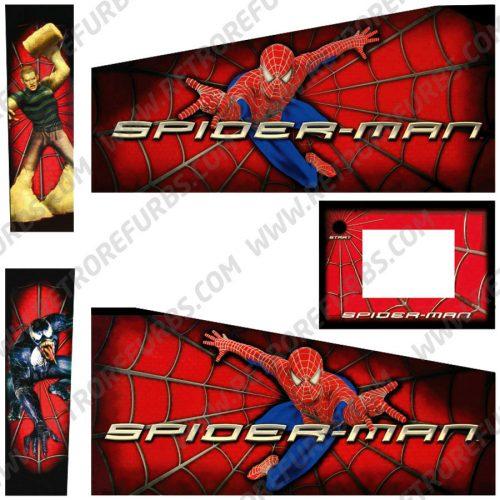Spider Man Pinball Cabinet Decals Flipper Side Art Original Spiderman Stern Graphics