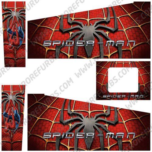 Spider Man Suit Edition Alternate Pinball Cabinet Decals Flipper Side Art Original Stern
