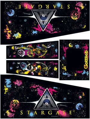Stargate Pinball Cabinet Decals Flipper Side Art