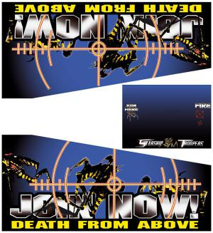 Starship Troopers Pinball Cabinet Decals