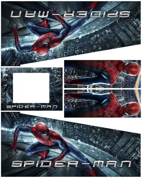 Spider Man City Edition Pinball Cabinet Decals Flipper