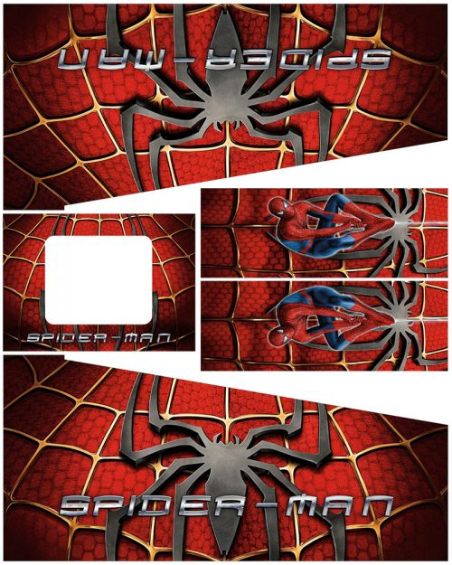 Spider-Man Pinball Cabinet Decals Suit Edition
