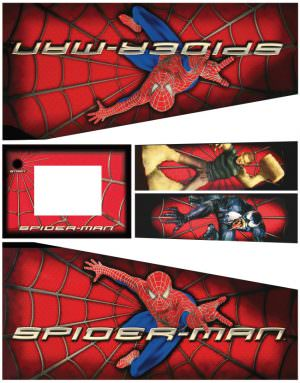 Spider-Man Pinball Cabinet Decals Stern Flipper