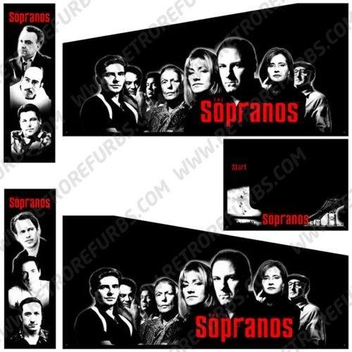 The Sopranos Pinball Cabinet Decals Flipper Side Art Original Stern