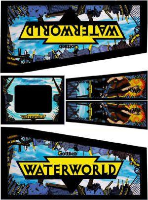 Water World Pinball Cabinet Decals