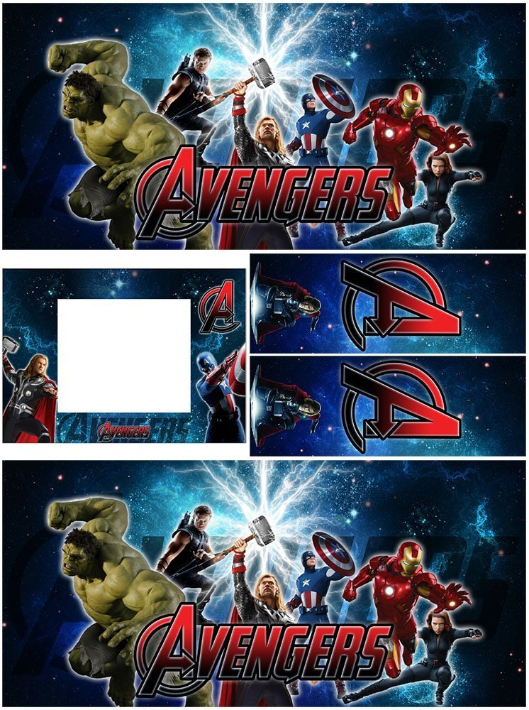 The Avengers Alternative Pinball Cabinet Decals Galaxy Edition Flipper