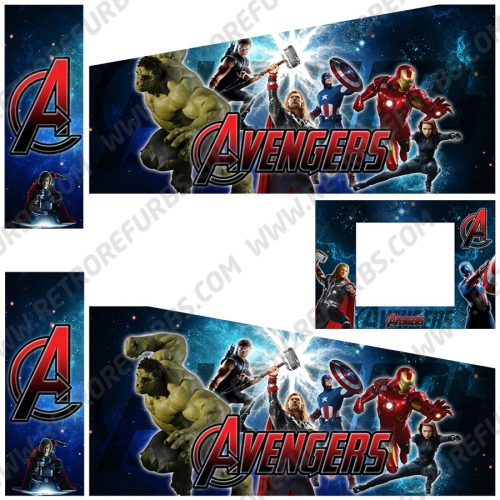The Avengers Galaxy Edition Alternate Pinball Cabinet Decals Flipper Side Art Stern Graphics
