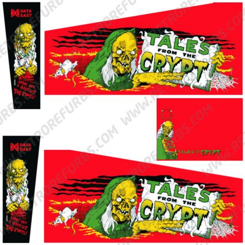 Tales From The Crypt Red Edition Pinball Cabinet Decals Flipper Side Art Alternate Graphics