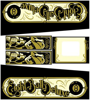 Eight Ball Deluxe Pinball Cabinet Decals