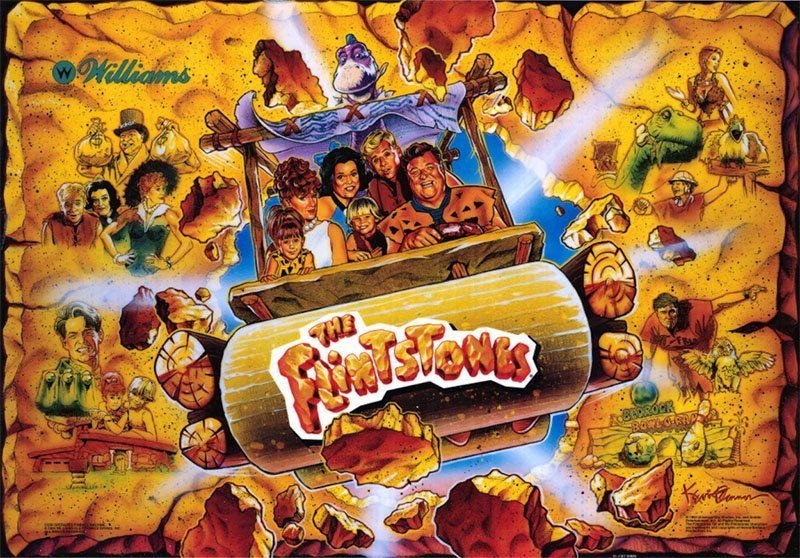 The Flintstones Pinball Translite Flipper