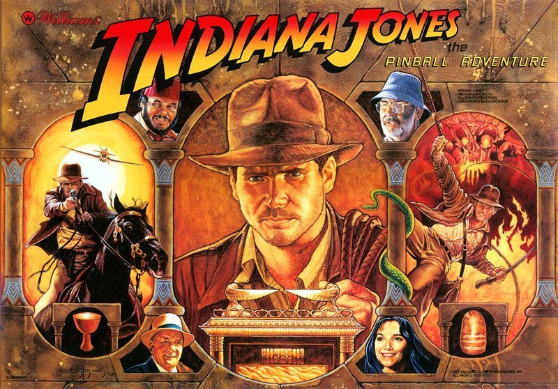 Indiana Jones Williams Pinball Translite