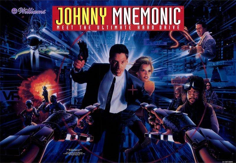 Johnny Mnemonic Pinball Translite Flipper