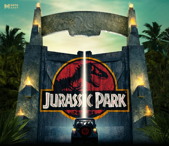 Jurassic Park Gate Edition Alternative Pinball Translite Flipper