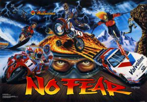No Fear Pinball Translite Flipper