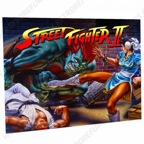 Street Fighter NES Edition Alternate Pinball Translite Alternative Flipper Backglass