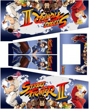 Street Fighter Warrior Edition Pinball Cabinet Decals Flipper