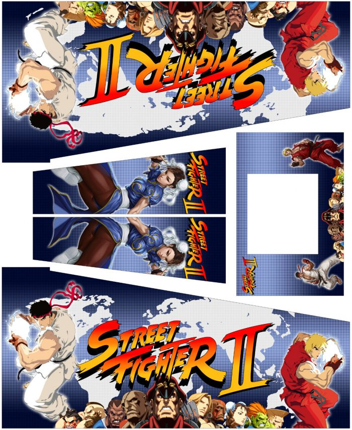 Street Fighter Warrior Edition Pinball Cabinet Decals Flipper