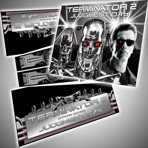 Terminator 2 Chrome Edition Makeover Kit Flipper Decals Translite Package