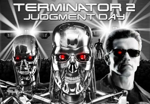 Terminator 2 Chrome Alternative Pinball Translite Flipper
