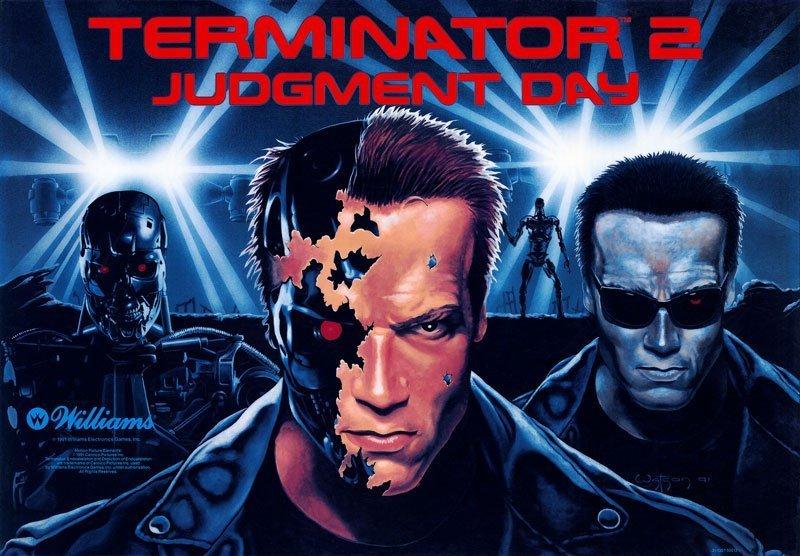 Terminator 2 Pinball Translite Flipper