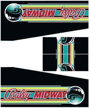 Beat The Clock Bally Midway Pinball Cabinet Decals Flipper Side Art