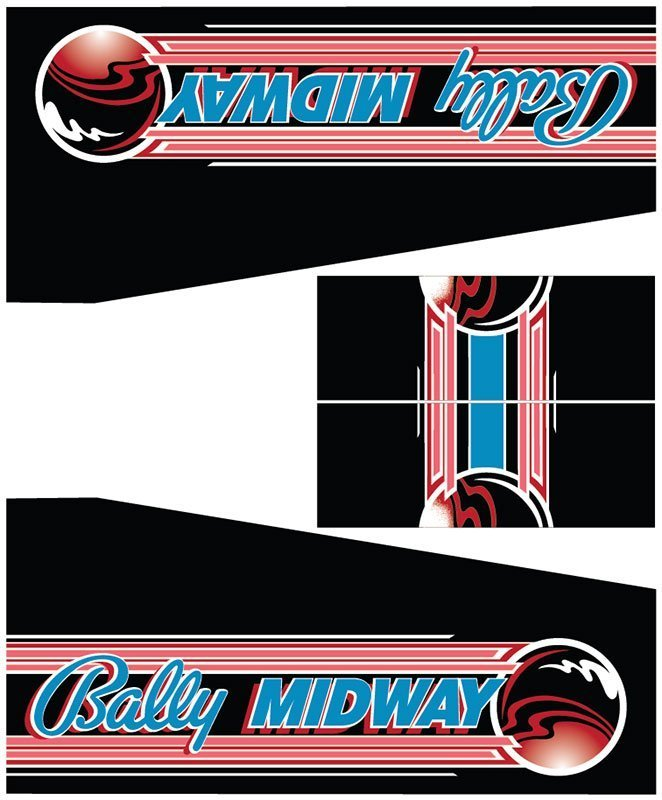 Black Belt Bally Midway Pinball Cabinet Decals Flipper Side Art