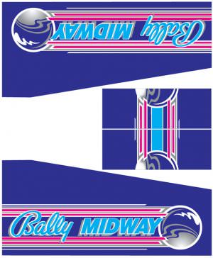 Hardbody Bally Midway Pinball Cabinet Decals Flipper Side Art