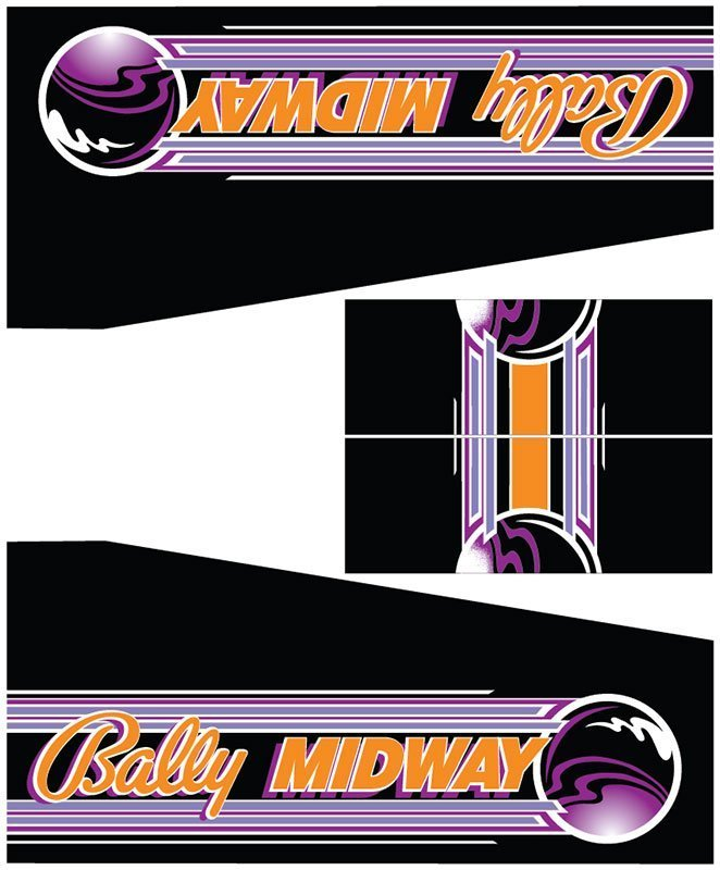 Lady Luck Bally Midway Pinball Cabinet Decals Flipper Side Art