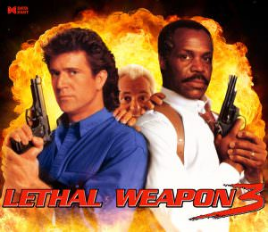 Lethal Weapon 3 Pinball Alternate Translite Flipper