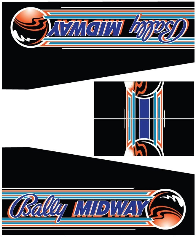 Motordome Bally Midway Pinball Cabinet Decals Flipper Side Art