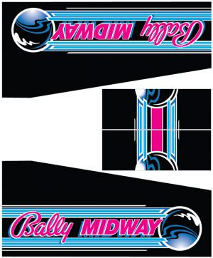Party Animal Bally Midway Pinball Cabinet Decals Flipper Side Art