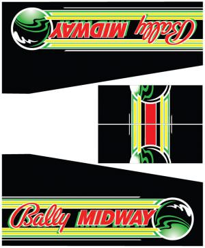 Special Force Bally Midway Pinball Cabinet Decals Flipper Side Art