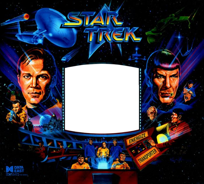 Star Trek 25th Pinball Translite Flipper Data East