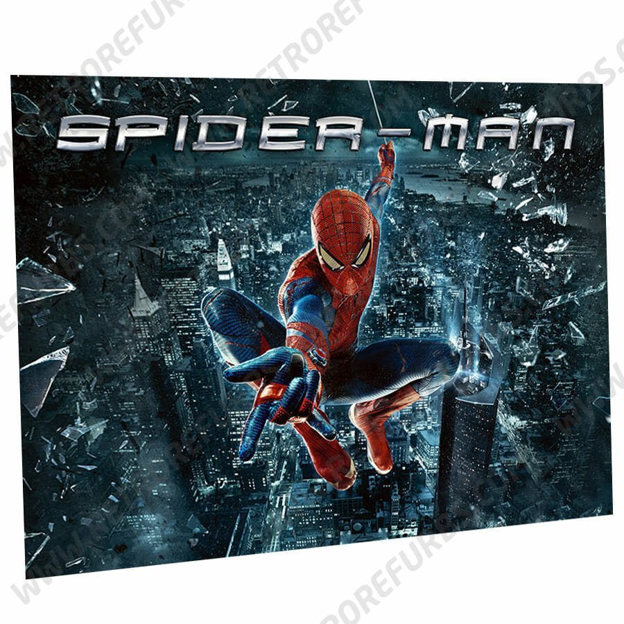 Spider Man City Edition Pinball Translite Alternative Flipper Alternate