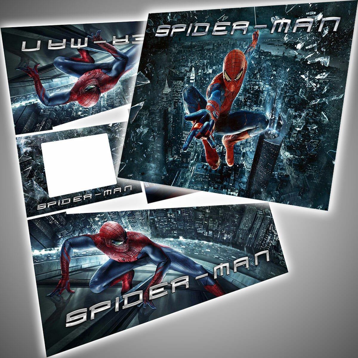 Spider Man City Edition Makeover Kit Translite Decals Package Flipper