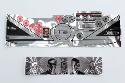 Terminator 2 Pinball Real Chrome Playfield Apron Decals Flipper
