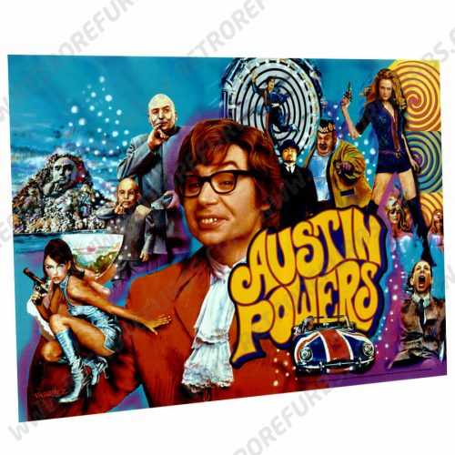 Austin Powers Pinball Translite Flipper Backglass Stern
