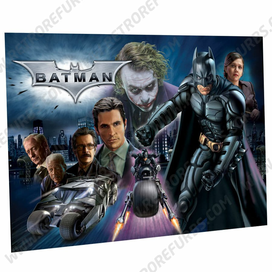 Batman The Dark Knight Pinball Translite Flipper Backglass