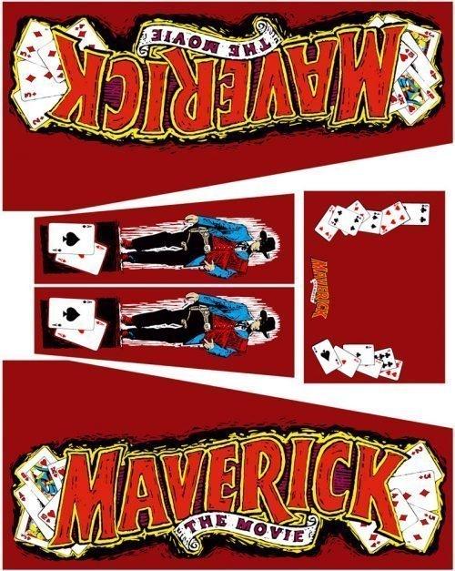 Maverick Red Edition Pinball Cabinet Decals Flipper Side Art