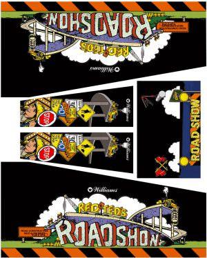 Road Show Black Edition Pinball Cabinet Decals Flipper Side Art