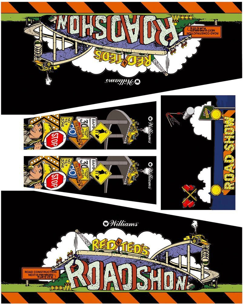 Road Show Black Edition Pinball Cabinet Decals Flipper Side Art