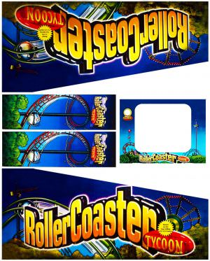 Rollercoaster Tycoon Pinball Cabinet Decals Flipper Side Art
