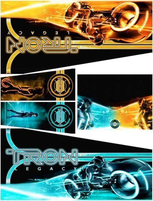 Tron Legacy (Alternate HD) Alternative Pinball Cabinet Decals Flipper Side Art